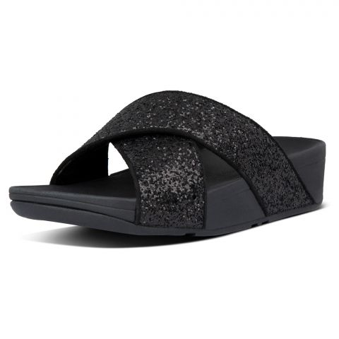 FitFlop-Lulu-Glitter-Cross-Slippers-Dames
