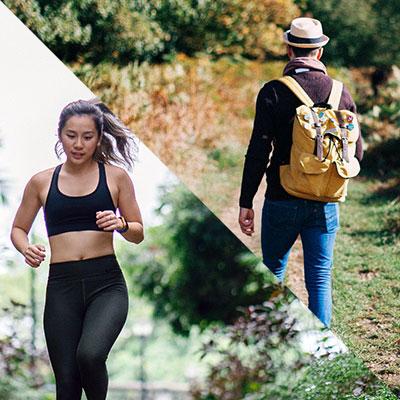 Randonnée vs running
